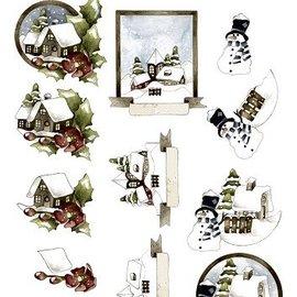 Bilder, 3D Bilder und ausgestanzte Teile usw... Hoja 3D precortada, motivos navideños.