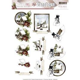 Bilder, 3D Bilder und ausgestanzte Teile usw... vorgestanzter 3D-Bogen, Winter und Weihnachtsmotive