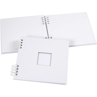 Objekten zum Dekorieren / objects for decorating 1 plakboekalbum, spiraalgebonden, afm 20x20 cm, 250 g