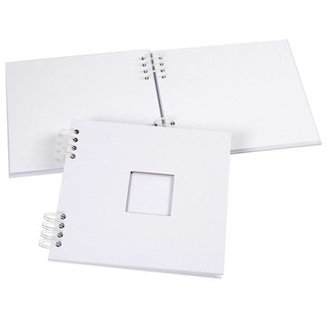 Objekten zum Dekorieren / objects for decorating 1 scrapbog album, spiralbundet, størrelse 20x20 cm, 250 g