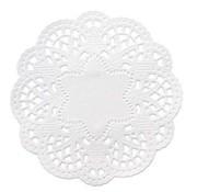 Embellishments / Verzierungen 24 centrini di pizzo intorno a 10 cm, bianchi