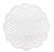 Embellishments / Verzierungen 24 lace doilies around 10 cm, white