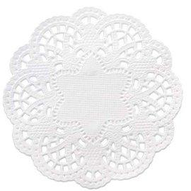 Embellishments / Verzierungen 24 lace doilies around 10 cm, white