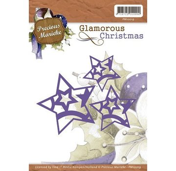 Precious Marieke punching and embossing template: 3 stars