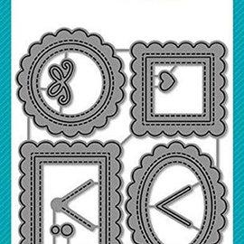 Elisabeth Craft Dies , By Lene, Lawn Fawn Ponsen en embossing sjablonen: 4 mini decoratieve frames