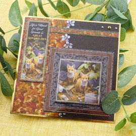 """Hunkydory Luxus Sets Mirri Magic Topper card set """"Friends of the Forest"""""""