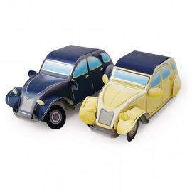Hunkydory Luxus Sets Proyecto de Automóviles 3D - Golden Road & Silver Road
