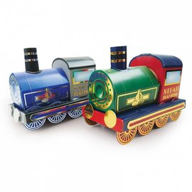 Hunkydory Luxus Sets Trains 3D, locomotives à vapeur dorées et à vapeur argentées