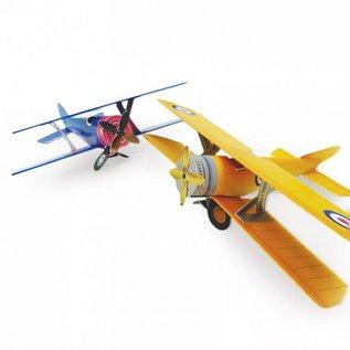 Hunkydory Luxus Sets 3D PLanes-project - Gouden luchten en zilveren luchten