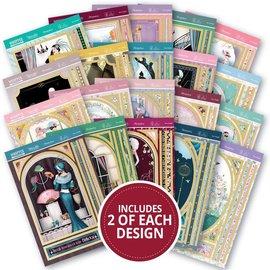 Hunkydory Luxus Sets 40 Toppers Papierblock, Luxus, zum Basteln mit Papier, Karten Gestaltung, Scrapbook u.a. diy Projekte