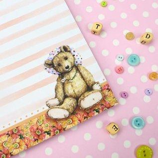 Hunkydory Luxus Sets Teddybärs Picknick, 20 x 20 cm, Papierblock.