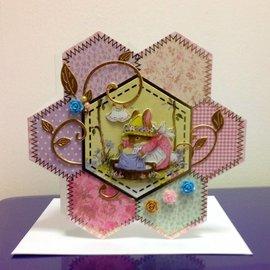 Hunkydory Luxus Sets Set de tarjetas de lujo: para 4 tarjetas de patchwork.