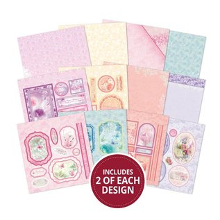 Hunkydory Luxus Sets Wonderful paper block, 20x 20 cm, 24 sheets, 220 gsm