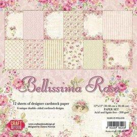Karten und Scrapbooking Papier, Papier blöcke Rose paper block, 30.5 x 30.5 cm
