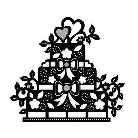 Spellbinders und Rayher Plantilla de punzonado, tarta de piso