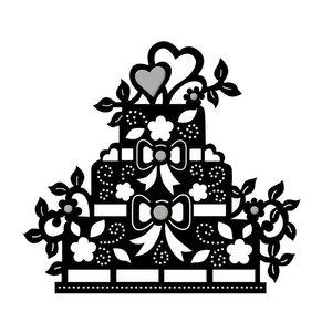 Spellbinders und Rayher Modèle de poinçon, gâteau de sol