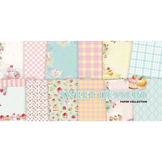 Karten und Scrapbooking Papier, Papier blöcke Papieren blok, 30,5 x 30,5 cm, zoet dessert