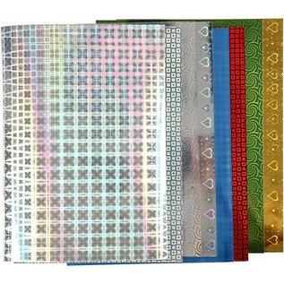 Karten und Scrapbooking Papier, Papier blöcke Hologram papier, A4 210x297 mm, 120 g, 8 vellen