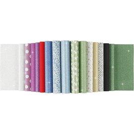 Karten und Scrapbooking Papier, Papier blöcke Paper sheets with glitter, A4 210x297 mm, 150 g, 15 sheets!