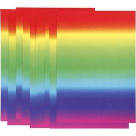 Karten und Scrapbooking Papier, Papier blöcke 10x Regenbogen-Karton, A4 210x297 mm, 180 g