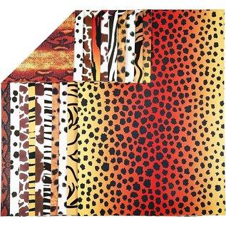 Karten und Scrapbooking Papier, Papier blöcke 10 sheets, design cardboard animal fur pattern, A4 210x297 mm, 300 g
