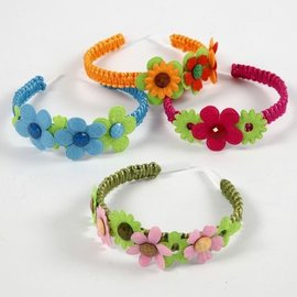 Embellishments / Verzierungen 16 coloridas flores de fieltro arrugadas en 5 formas diferentes
