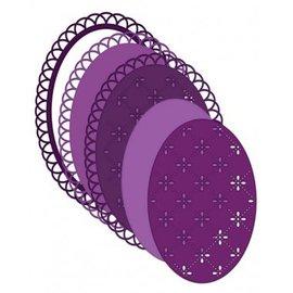Heartfelt Creations aus USA Plantilla de perforadora oval delicada con un hermoso borde de onda
