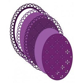 Heartfelt Creations aus USA Dainty modello di punzone ovale con un bellissimo bordo d'onda