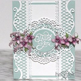 Heartfelt Creations aus USA Set de plantillas de estampado y estampado en relieve: hermosos detalles decorativos con perforaciones