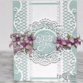 Heartfelt Creations aus USA Stansning og prægning stencil SET: Smukke dekorative stansede accenter