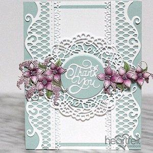 Heartfelt Creations aus USA Stanz- und Prägeschablone SET: Schöne dekorative gestanzte Akzente