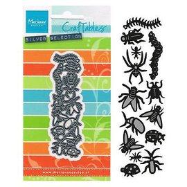 Marianne Design Ponsen en embossing sjablonen: insecten