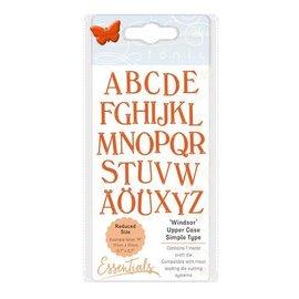 Tonic Studio´s Plantillas de estampado y estampado: letras grandes de tónica.