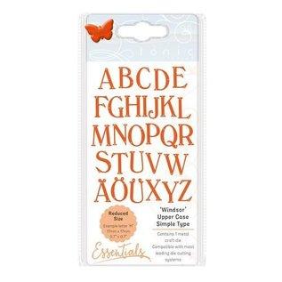 Tonic Studio´s Stencil per punzonatura e goffratura: grandi lettere di tonico