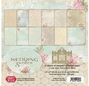 Designer Papier Scrapbooking: 30,5 x 30,5 cm Papier Paper block, 30.5 x 30.5 cm, Wedding Garden