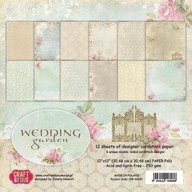 Designer Papier Scrapbooking: 30,5 x 30,5 cm Papier Papirblok, 30,5 x 30,5 cm, Bryllupshave