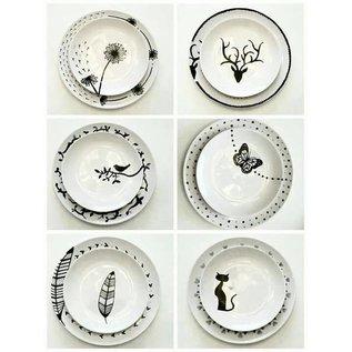 FARBE / STEMPELKISSEN Glas- und Porcelanpen Brillant Kontur Schwarz Porzellanmalstift