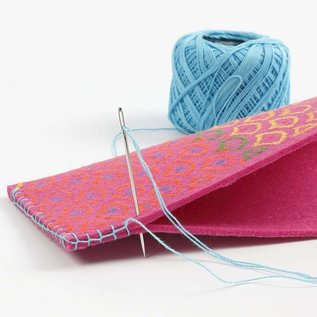 FARBE / STEMPELKISSEN Deco altri tessuti - assortimento, 3 mm di linea, i colori al neon, 6 sort.