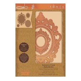 Tonic Studio´s Ponsen en embossing sjablonen: 4 decoratieve frames met diepe embossing! van Tonic Studios