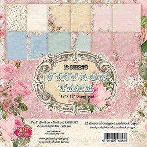 Vintage, Nostalgia und Shabby Shic Scrapbook und Karten Papierblock, 30,5 x 30,5 cm, Vintage Time -ZURÜCK VORRÄTIG!