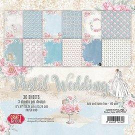 Karten und Scrapbooking Papier, Papier blöcke Paper block, pastel wedding, 15.24 x 15.24 cm