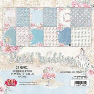 Karten und Scrapbooking Papier, Papier blöcke Bloc de papier, mariage pastel, 15,24 x 15,24 cm