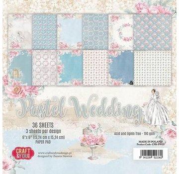 Karten und Scrapbooking Papier, Papier blöcke Blocco di carta, matrimonio pastello, 15,24 x 15,24 cm