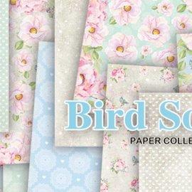 Karten und Scrapbooking Papier, Papier blöcke Bloc de papier, chant d'oiseau, 15,24 x 15,24 cm