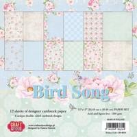 Scrapbook and Cards Paper Block, 30.5 x 30.5 cm, Bird Song