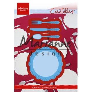 Marianne Design Ponsen en embossingstencils: Diner SET