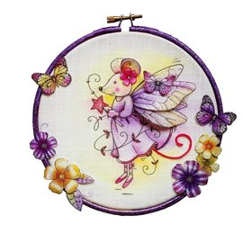 CREATIVE EXPRESSIONS und COUTURE CREATIONS Pink Ink Desings: Fairy Mouse Stempel A6