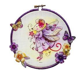 CREATIVE EXPRESSIONS und COUTURE CREATIONS Diseños de tinta rosa: Sello de hada ratón A6