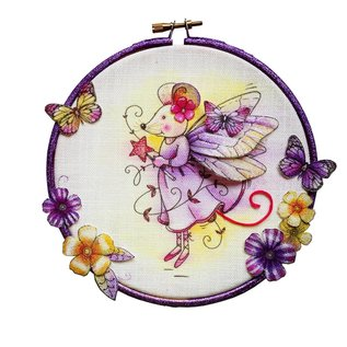 CREATIVE EXPRESSIONS und COUTURE CREATIONS Pink Ink Desings: Fairy Mouse Stamp A6