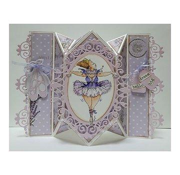 Dutch DooBaDoo A4 plastic template: Card Art Springcard